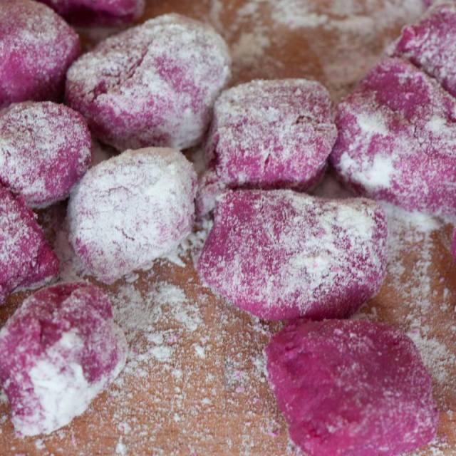 gnocchi aux betteraves
