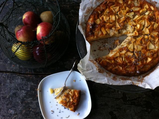 tarte aux pommes et lavande