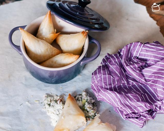 Pâte phyllo avec fromage feta