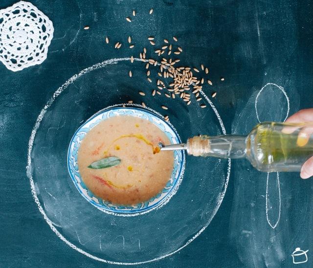 Spelt and white bean soup