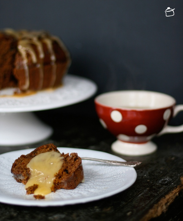 Dates and salted caramel cake