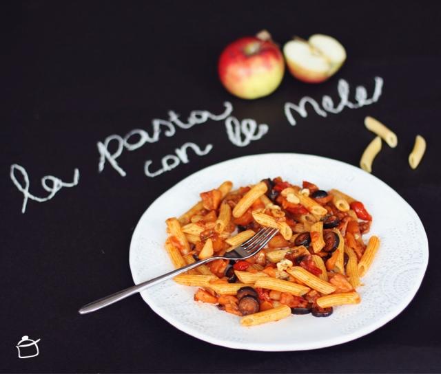 pasta with apple sauce