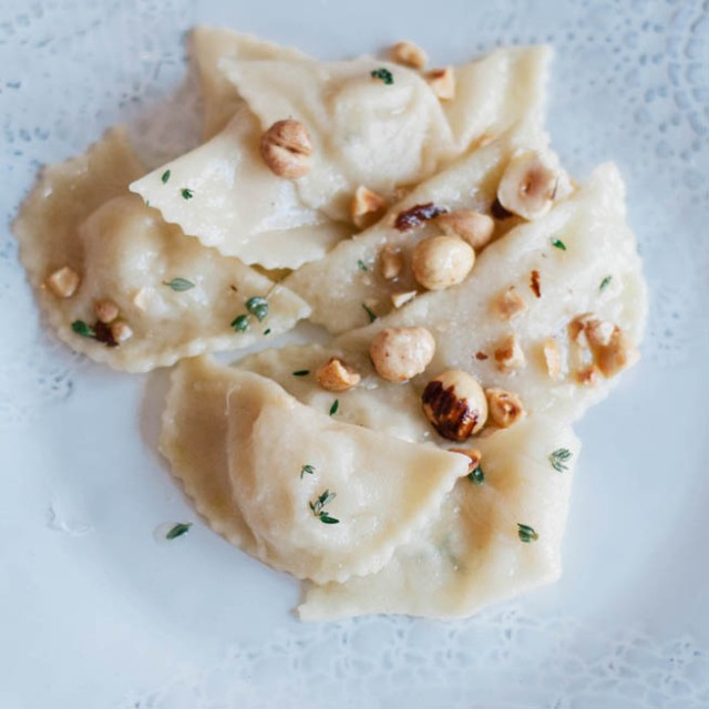 apple and potato ravioli