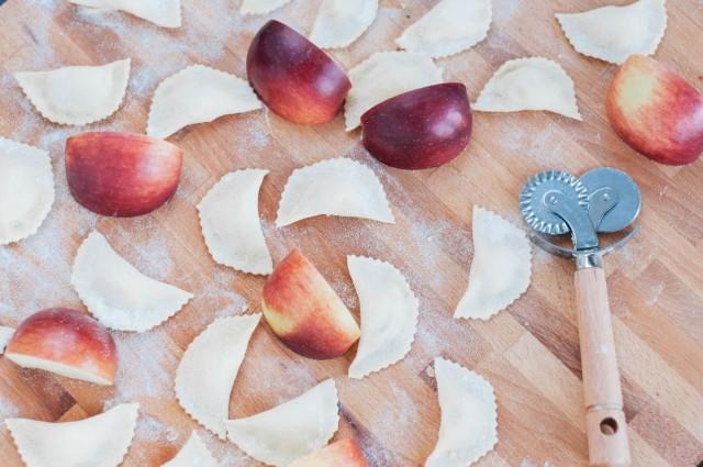 raviolis aux pommes et potatoes