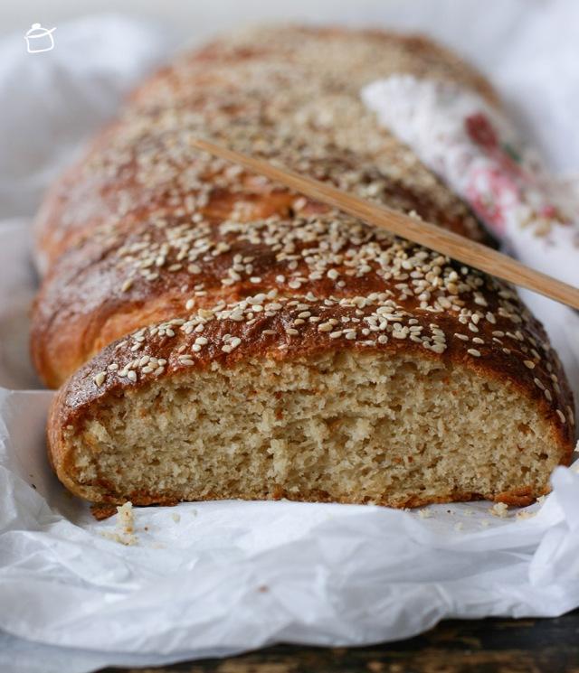 le pain de kamut et yaourt