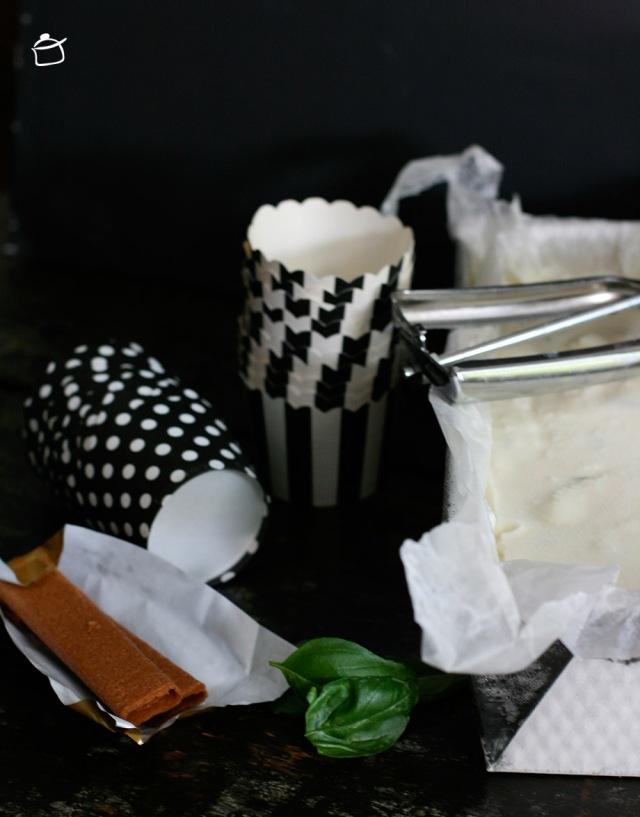 basil and lemon ice cream