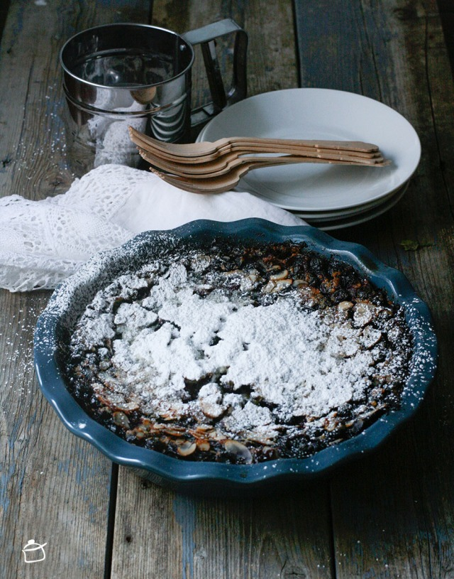 bluberry and almond milk clafoutis
