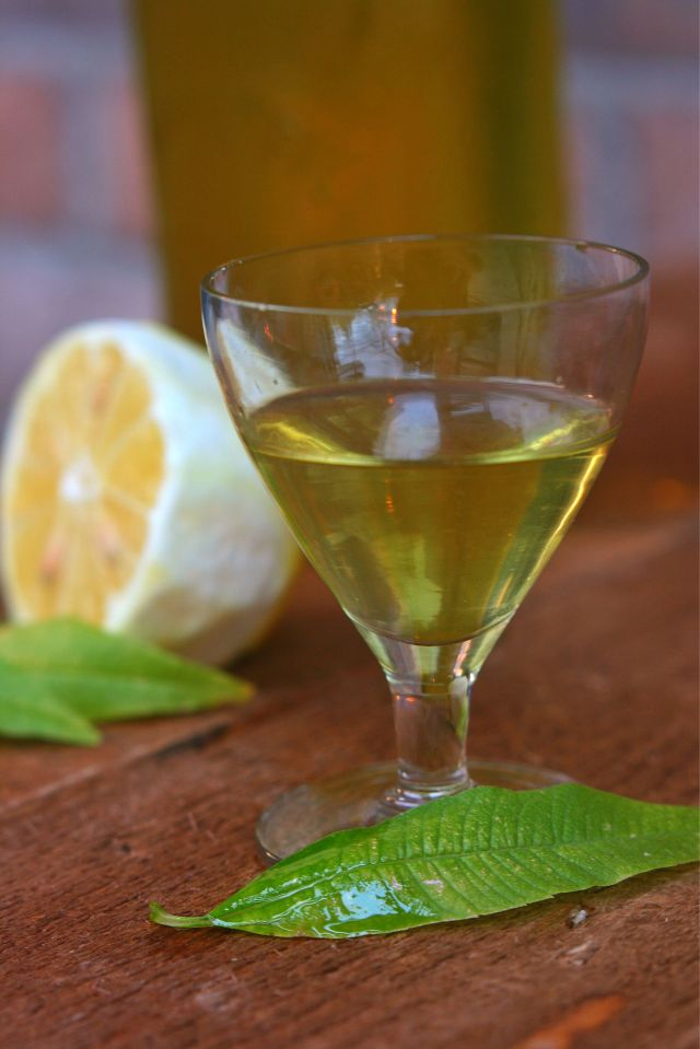 Liqueur de verveine citronnelle.