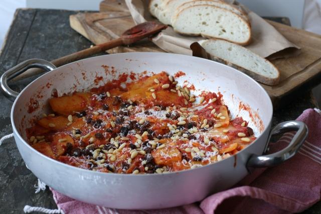 parmigiana di zucca e pinoli