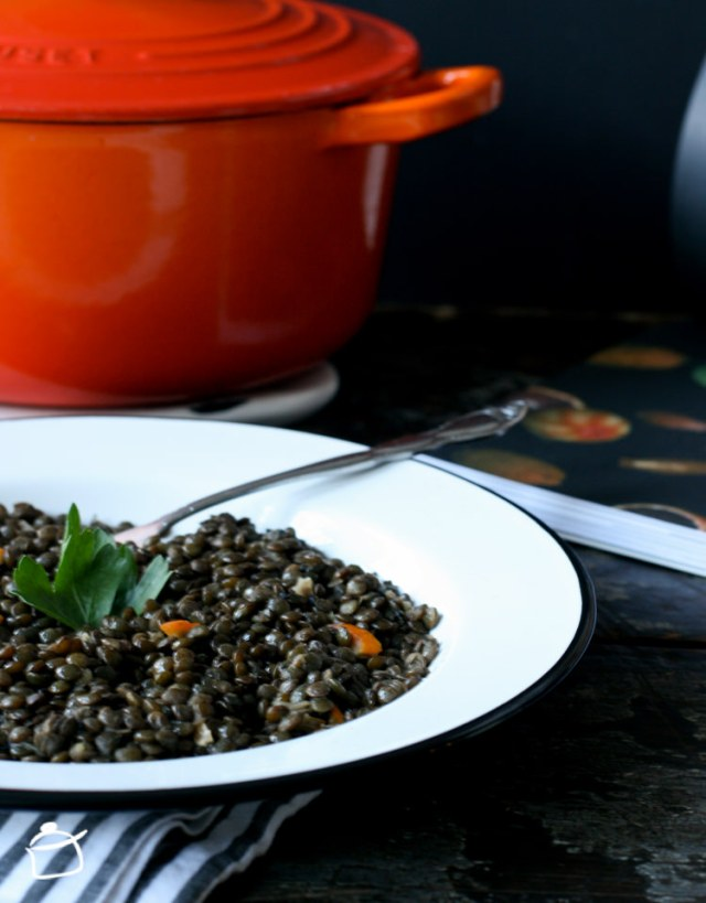 French lentils with black tea
