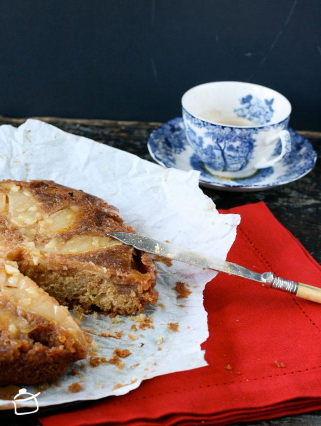 torta rovesciata alle pere e zenzero candito