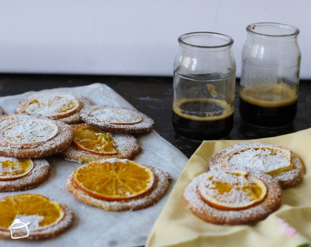 shortbread cookies with hazelnuts and orange