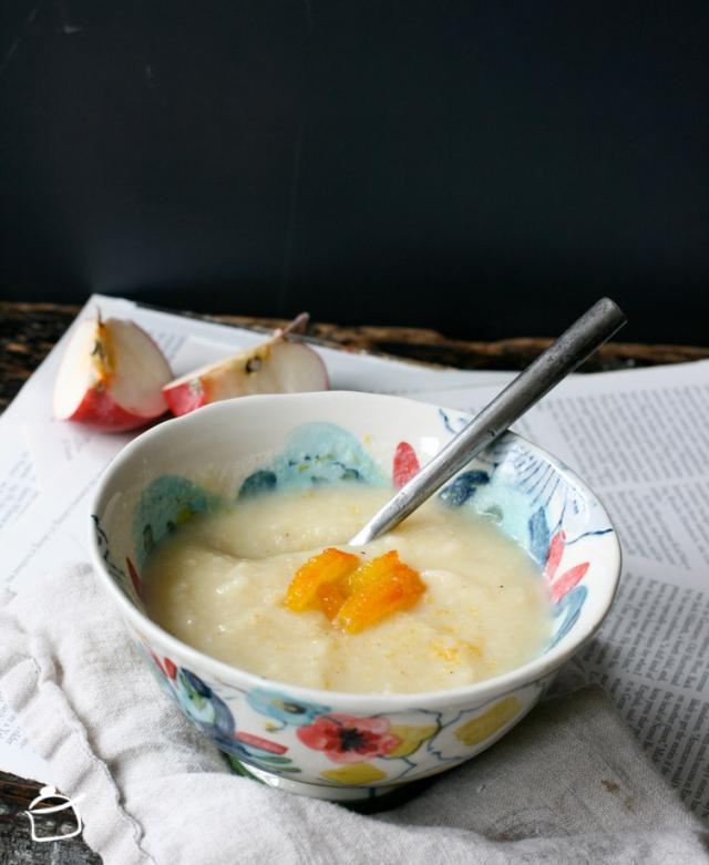soupe de panais et pommes