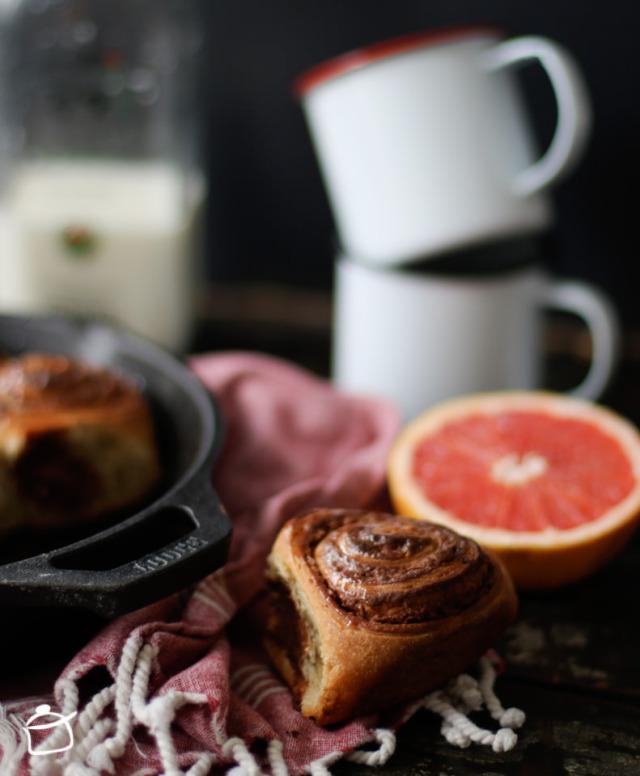 rouleaux au café et crème de noisettes